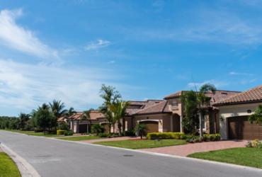 Houses on a suburban street