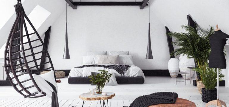 Black and white loft apartment