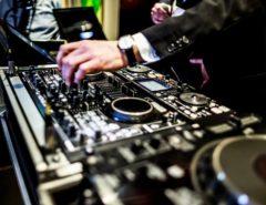 DJ mixing at a wedding