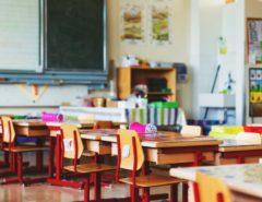 Classroom desks and seats