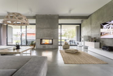 A modern home's living room