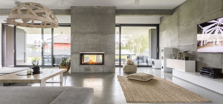 A modern home's living room